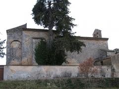 Chapelle Notre-Dame - English: Brue-Auriac - Var - France - Chapelle Notre-Dame (sidewall on the cimetery side)