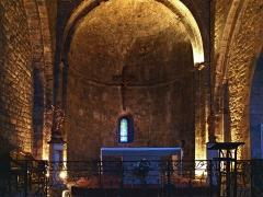 Eglise - Français:   Le Castellet, Provence (France) - Le chœur de la nef de l\'église paroissiale de la Transfiguration du XIe siècle