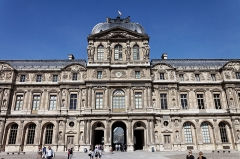 Vestiges archéologiques -  Le palais du Louvre à Paris.