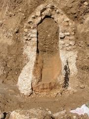 Aqueduc antique (restes de l') - Aqueduc de Mons à Fréjus: coupe lors de la construction d'un parking