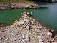 Aqueduc antique (restes de l') - schém du double franchissement du vallon de Larquet (et non Saoutet)