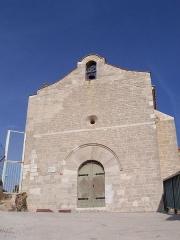 Chapelle de style roman (vieille) -  Eglise médiévale au sommet du Rocher de La Garde (Var-France)