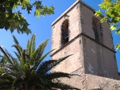 Eglise paroissiale Saint-Michel -  Clocher de l'église romane provençale de Grimaud (Var).