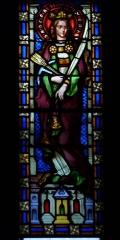 Eglise Saint-Louis - Deutsch: Bleiglasfenster in der Kirche Saint-Louis in Hyères, Darstellung: hl. Philomena