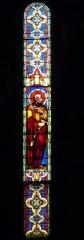 Eglise Saint-Louis - Deutsch: Bleiglasfenster in der Kirche Saint-Louis in Hyères, Darstellung: Petrus mit Schlüssel