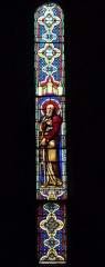 Eglise Saint-Louis - Deutsch: Bleiglasfenster in der Kirche Saint-Louis in Hyères, Darstellung: Paulus