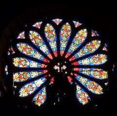 Eglise Saint-Louis - Deutsch: Rosette in der Kirche Saint-Louis in Hyères