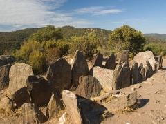 Dolmen de Gauttobry -  Dolmen de Gaoutabry (2500 avant JC), commune de La Londe-les-Maures, Var, France.