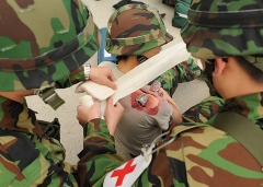 Dolmen de Gauttobry - English: Republic of Korea Air Force medical personnel treat a simulated wound during Beverly Bulldog 13-1 on Kunsan Air Base, Republic of Korea, Nov. 7, 2012. The exercise assessed the combat and mission capabilities of U.S. and ROK air forces. (U.S. Air Force photo/Staff Sgt. Jonathan Fowler)