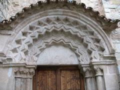 Eglise - English: Ollières - Var - France - Saint-Anne church (portail, tympan)