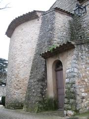 Eglise - English: Ollières - Var - France - Saint-Anne church (chevet)
