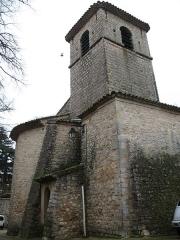 Eglise - English: Ollières - Var - France - Saint-Anne church (bell tower)