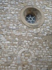 Eglise - English: Ollières - Var - France - Saint-Anne church (frontside detail)