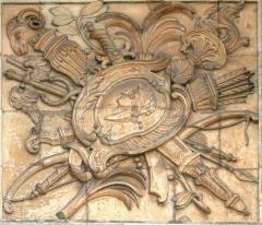 Musée de la Marine - Français:   Ancienne porte de l\'arsenal de Toulon, aujourd\'hui musée de la Marine. Bas relief de Verdiguier.