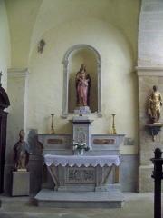 Eglise - Français:   autel latéral à Aubignan