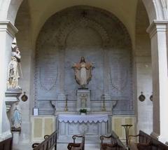Eglise - Français:   mémorial à Aubignan
