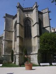 Eglise Saint-Martial, devenue Temple Protestant - Français:   Abside du Temple Saint-Martial d\'Avignon vue du square Agricol Perdiguier
