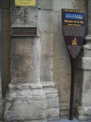 Eglise Saint-Martial, devenue Temple Protestant - Français:   Niveau de l\'inondation du Rhône à Avignon, le 4 novembre 1840, sur la facade du Temple Saint Martial, France