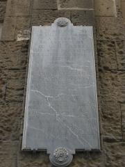 Eglise Saint-Martial, devenue Temple Protestant - Français:   Plaque en hommage à Jean Fabre, temple Saint Martial, Avignon, France