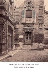 Hôtel Crillon - Ancienne Livrée de Pampelune devenue Hôtel des ducs de Crillon