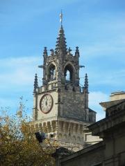 Hôtel de ville - Horloge de la mairie d'Avignon, Vaucluse, France