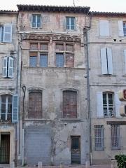 Maison - Français:   Immeuble d\'Avignon, 29 rue dela grande Fusterie, inscrit à l\'inventraire des monuments historiques