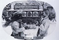 Maison - Affiche de publicité espagnole du yaourt Danone en 1919, http://www.danone.com/