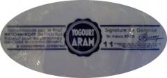 Maison - étiquette de yaourt Aram