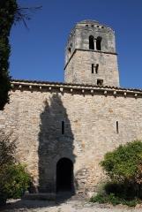 Chapelle de la Madeleine - Deutsch: Romanische Kapelle Sainte-Madeleine in Bédoin, einer Gemeinde im Département Vaucluse in der französischen Region Provence-Alpes-Côte d'Azur, Ansicht von Süden