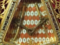 Eglise Saint-Siffrein, ou ancienne cathédrale - Français:   Église Saint-Siffrein de Carpentras, ou ancienne cathédrale église (classement): Le Saint Mors, emblème de Carpentras