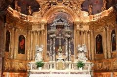 Ancienne cathédrale, puis église paroissiale Saint-Véran - Français:   Autel et retable de l\'abside de la cathédrale de Cavaillon.