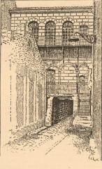 Synagogue - Русский: Иллюстрация из Еврейской энциклопедии Брокгауза и Ефрона (1906—1913). Старая синагога в Кавайоне.