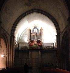 Eglise paroissiale Notre-Dame-de-Beaulieu - Deutsch: Église Notre-Dame-de-Beaulieu de Cucuron, à l'intérieur – Pipe organ