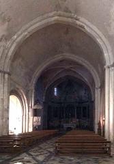 Eglise paroissiale Notre-Dame-de-Beaulieu - Deutsch: Église Notre-Dame-de-Beaulieu de Cucuron, à l'intérieur