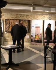 Village dit le Vialle - Exposition les vins des papes d'Avignon à Grillon au premier étage de la maison Milon