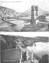 Ancien pont suspendu de Mirabeau -  Les deux anciens ponts de Mirabeau (Vaucluse)