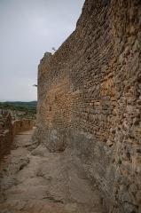 Château (restes du) -  Coulée de la forteresse de Mornas