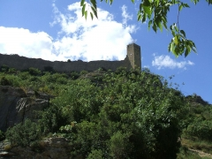 Château (restes du) - English: Mornas Fortress (Middle Ages) (Vaucluse, France): southeastern tower