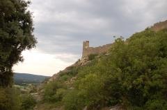 Château (restes du) -  Paysage sur les hauteurs de Mornas