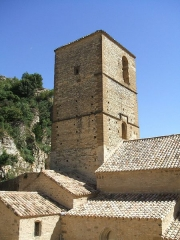 Eglise - English: Mornas (département of Vaucluse, Provence-Alpes-Côte-d'Azur région, France) : Our Lady of the Val-Romigier Church (XIIth century)