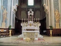 Eglise Notre-Dame-de-Nazareth (ancienne cathédrale) - Français:   Autel de la cathédrale Notre Dame de Nazareth, Orange, Vaucluse, France