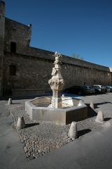 Fontaine du Pélican -  fountain of the village of Pernes les fontaines, France