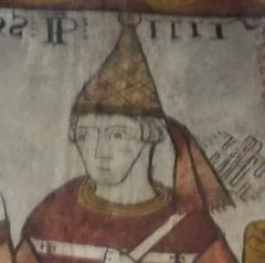 Tour Ferrande - Français:   Pape Clément IV (Fresque de la Tour Ferrande à Pernesles Fontaine, Vaucluse, France)