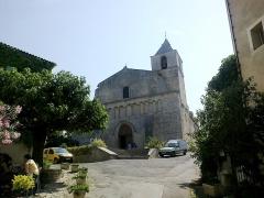 Eglise paroissiale Notre-Dame-de-Pitié -  Luberon Saignon Eglise Porche 08072013