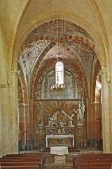 Eglise paroissiale Notre-Dame et Saint-Pierre - Deutsch: N-D et St-Christophe de St-Christol, Hauptschiff nach Westen