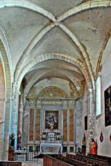Eglise paroissiale Notre-Dame et Saint-Pierre - Deutsch: N-D et St-Christophe de St-Christol, Seitrenschiff nach Westen