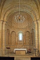 Eglise paroissiale Notre-Dame et Saint-Pierre - Deutsch: N-D et St-Christophe de St-Christol, Chorapsis mit Triumphbogen