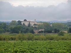 Etablissement conventuel  dit Sainte-Garde-des-Champs - English:   Vineyard near Sainte-Garde-des-Champs, Saint-Didier, Vaucluse, France
