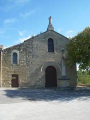 Eglise paroissiale Saint-Trophime - English:   Church of Saumane, Vaucluse, France
