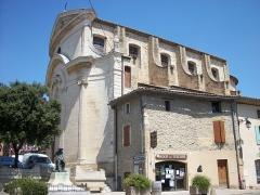 Eglise paroissiale Saint-Etienne - English: St-Etienne Church in the village center of Sérignan-du-Comtat, Vaucluse, France.